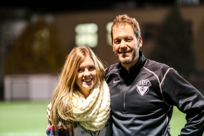 Coach Rob Bohlmann with his daughter Gabrielle