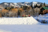 Steamboat Springs High School Gardner Field Snow Pile Girls Soccer Team